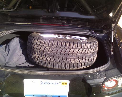 Got Flat Today Rx7 Spare Installed Mx5 Miata Forumrhforummiata: 2006 Miata Spare Tire Location At Elf-jo.com